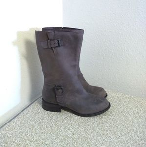 Cole Haan Brown Leather Midcalf Boots